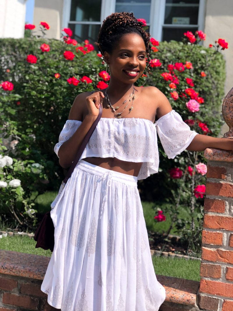 Before & After: The Two-Piece Crop Top & Skirt