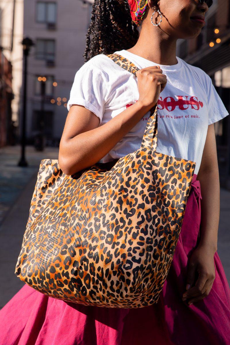 DIY  Leopard Tote Bag