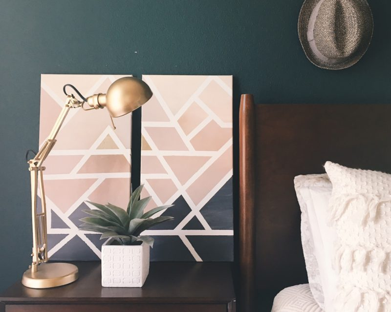 DIY Geometric Canvas Art (Home Decor)