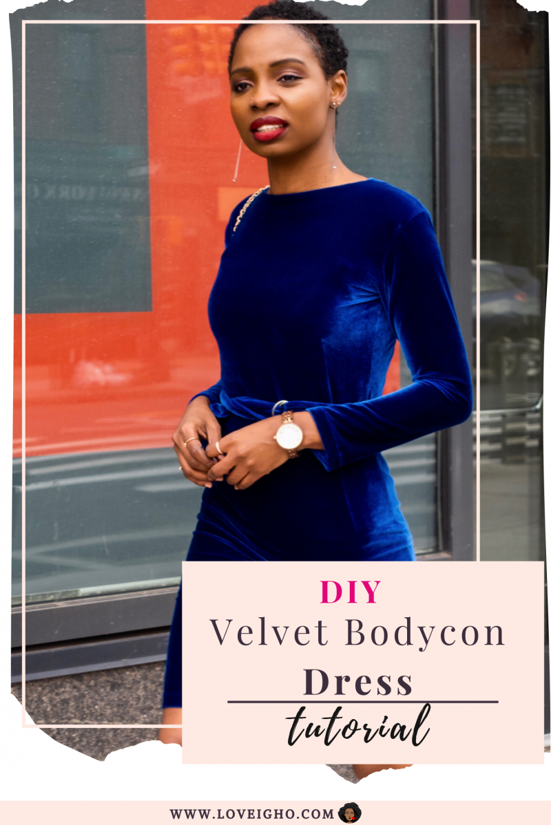 DIY Velvet Bodycon Dress