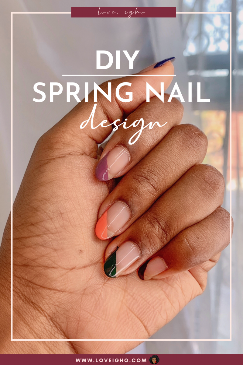 DIY Spring Nails | French Tip Nail Art
